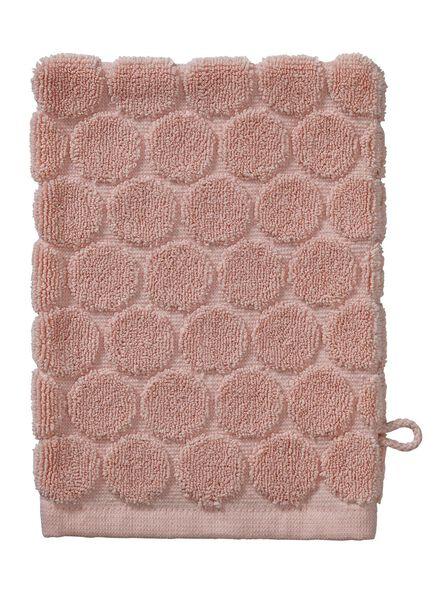 washandje zware kwaliteit - stip - roze - 5200070 - HEMA