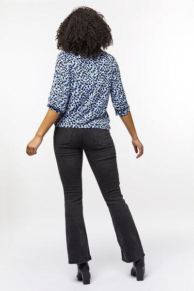 dames t-shirt stippen lichtblauw L - 36218068 - HEMA
