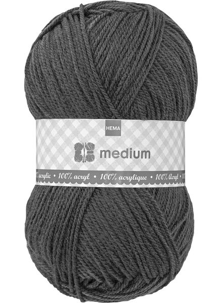 breigaren medium - donkergrijs - 1400047 - HEMA