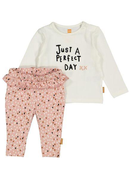 newborn set legging en t-shirt roze roze - 1000015316 - HEMA