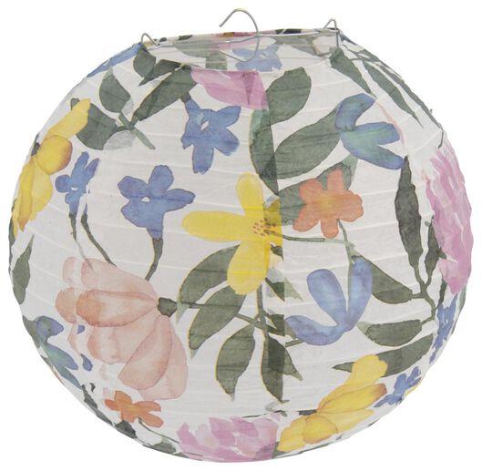papieren lampion 25cm bloemen - 14200452 - HEMA