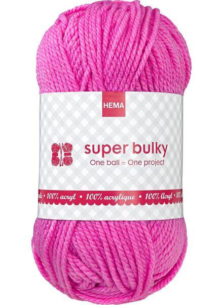 breigaren super bulky - roze - 1400070 - HEMA
