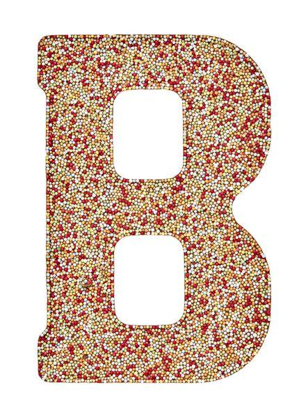 melkchocoladeletter B met discodip - 10030581 - HEMA