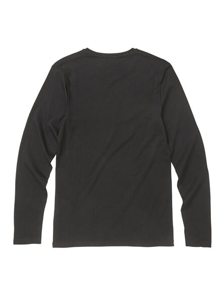 heren t-shirt - slim fit zwart - HEMA
