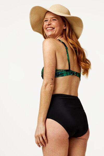 dames bikinislip high waist medium control zwart XL - 22340274 - HEMA