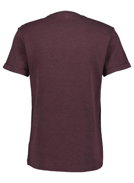 heren t-shirt ribbel rood rood - 1000014894 - HEMA
