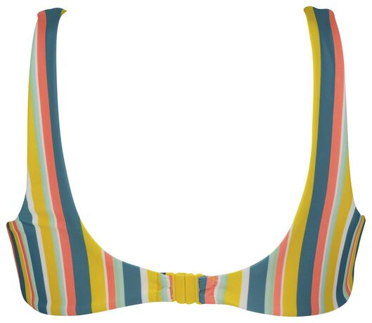 dames bikinitop zonder beugel - strepen multicolor L - 22340223 - HEMA