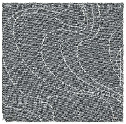 theedoek - 65 x 65 - katoen - grijs golven - 5490038 - HEMA