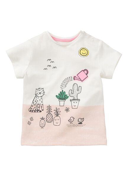 baby t-shirt - bamboe gebroken wit gebroken wit - 1000013432 - HEMA