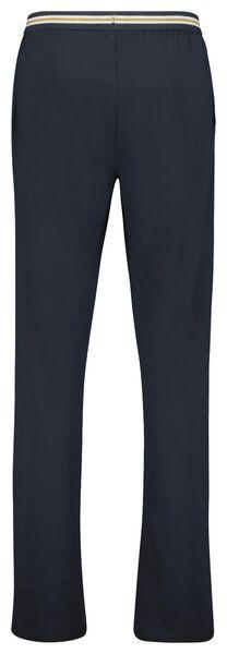 heren pyjamabroek katoen stretch donkerblauw donkerblauw - 1000023330 - HEMA