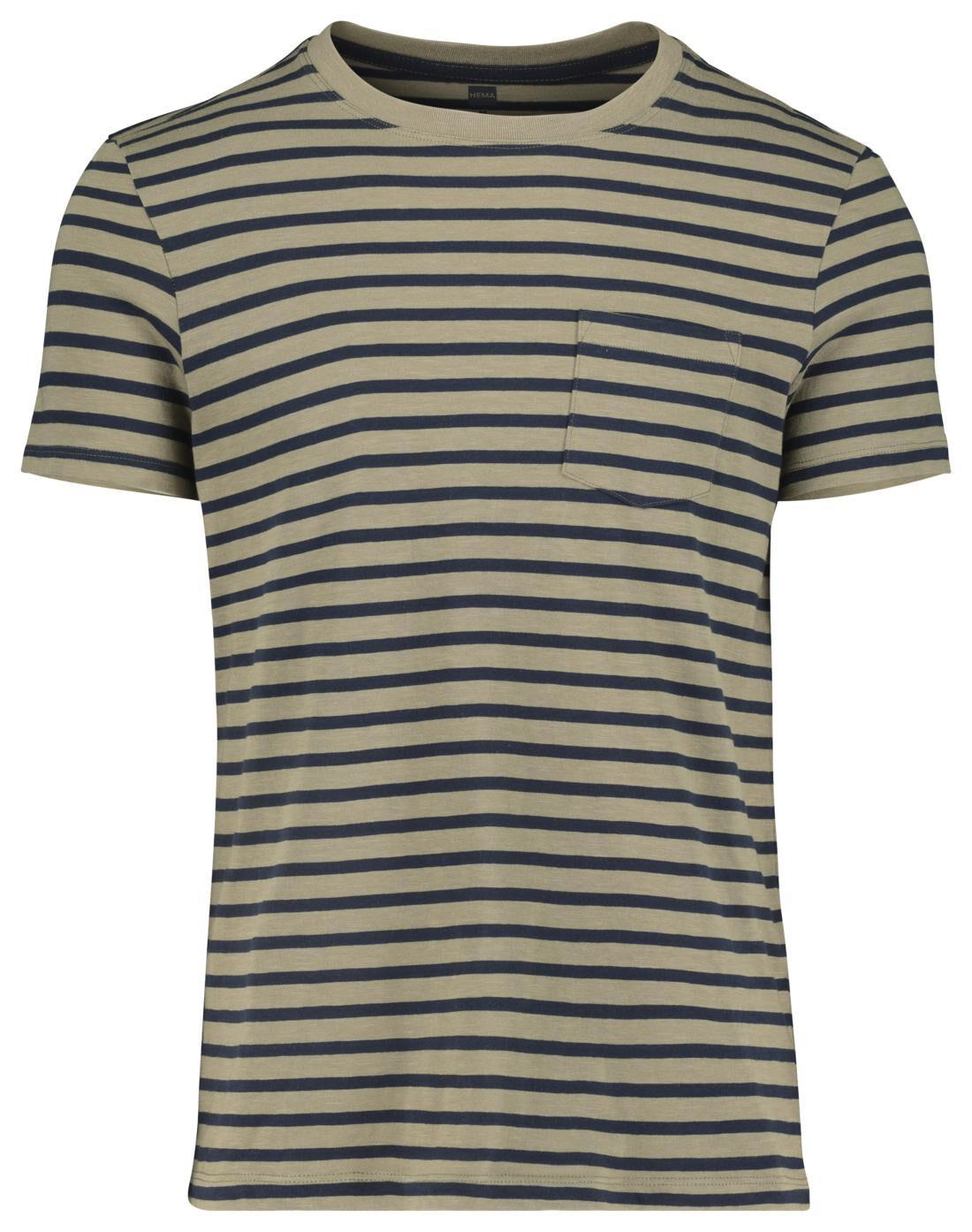 HEMA Heren T-shirt Legergroen (legergroen)