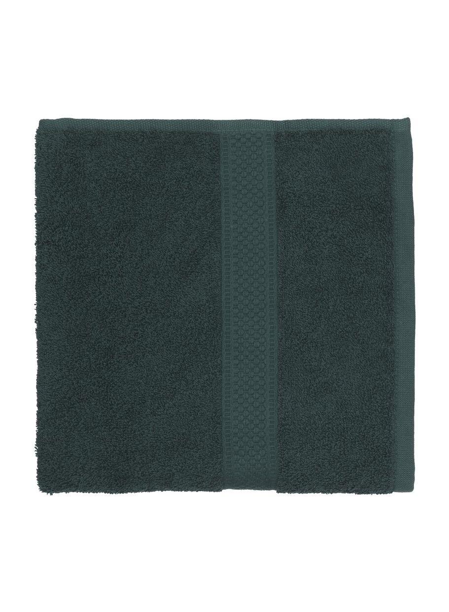 6 stuks. Handdoek - 50 x 100 cm - zware kwaliteit - donkergroen