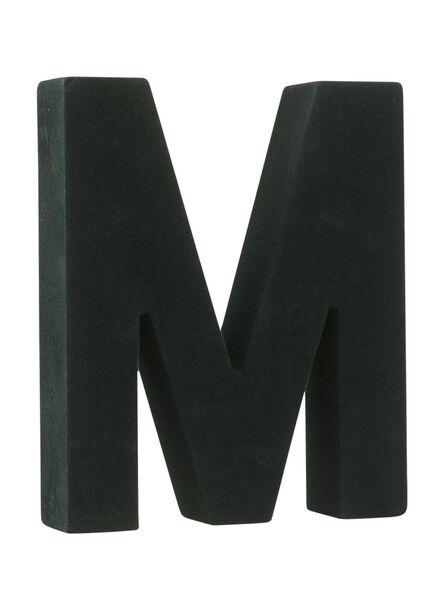 velvet letter M - 60110203 - HEMA