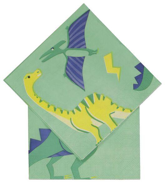 servetten 24x24 papier dino - 20 stuks - 14200406 - HEMA