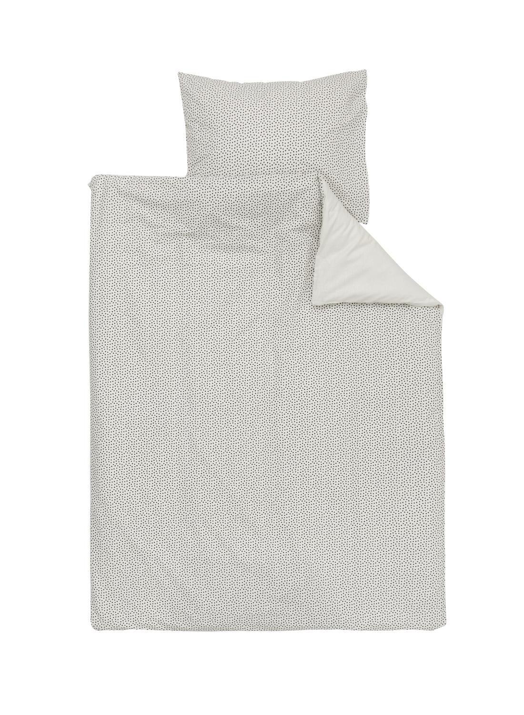 HEMA Peuterdekbedovertrek – Zacht Katoen – 120 X 150 Cm – Stip (blanc)