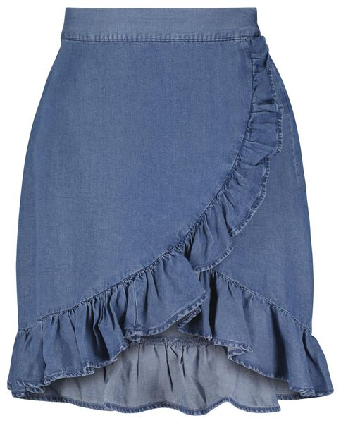 dames rok denim blauw M - 36262267 - HEMA