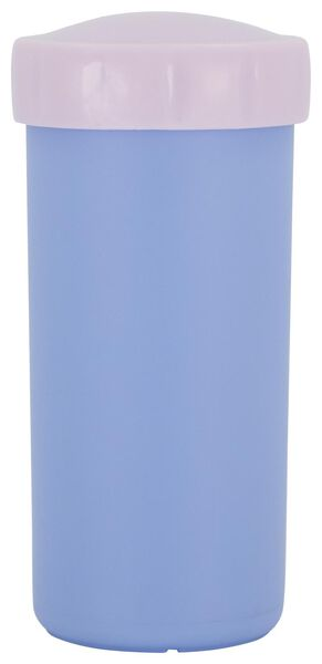 drinkbeker met deksel 300 ml blauw - 80610101 - HEMA