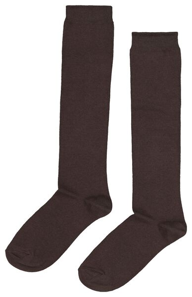 2-pak dames kniekousen bruin bruin - 1000020525 - HEMA