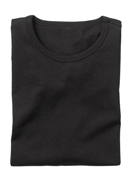 2-pak heren t-shirts regular-fit zwart zwart - 1000005967 - HEMA
