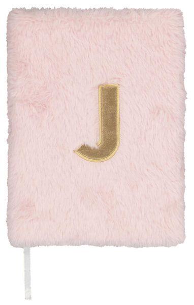 Notitieboek A5 fluffy letter J