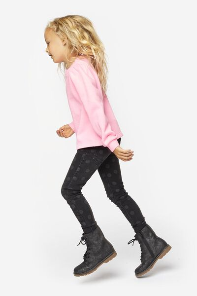 kinderjeans skinny zwart 140 - 30879861 - HEMA