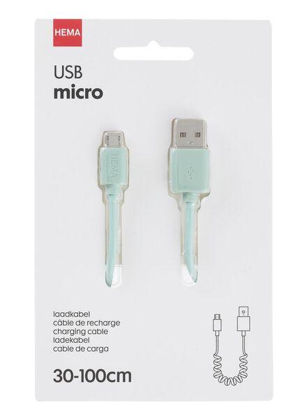 micro-USB laadkabel uitrekbaar - 39610055 - HEMA