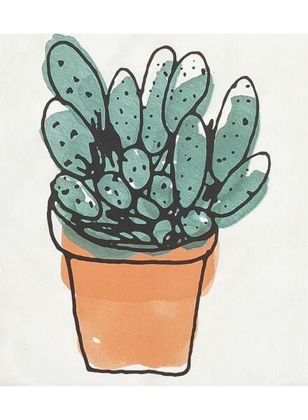 dekbedovertrek - zacht katoen - 240 x 220 cm - wit cactus - 5700143 - HEMA