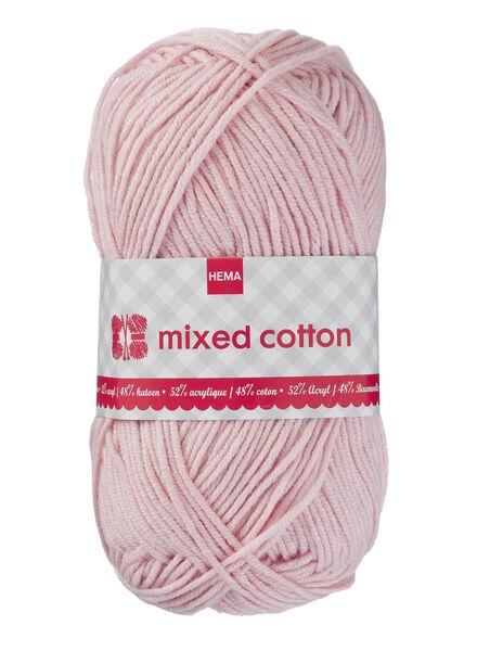 breigaren mixed cotton - roze - 1400155 - HEMA