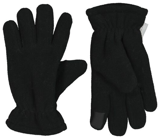 kinderhandschoenen met touchscreen zwart 110/116 - 16720231 - HEMA