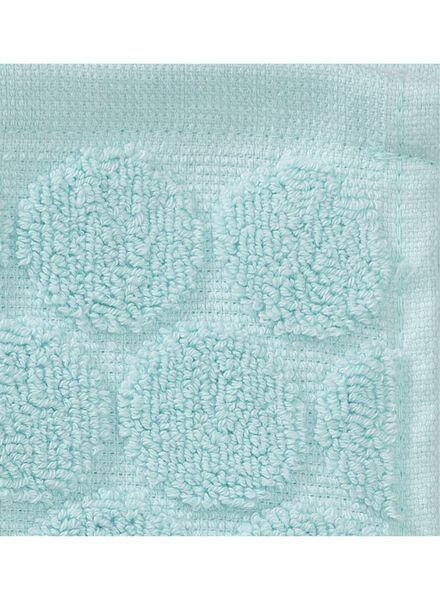gastendoek - 30 x 55 cm - zware kwaliteit - lichtgroen stip mintgroen gastendoekje - 5200056 - HEMA