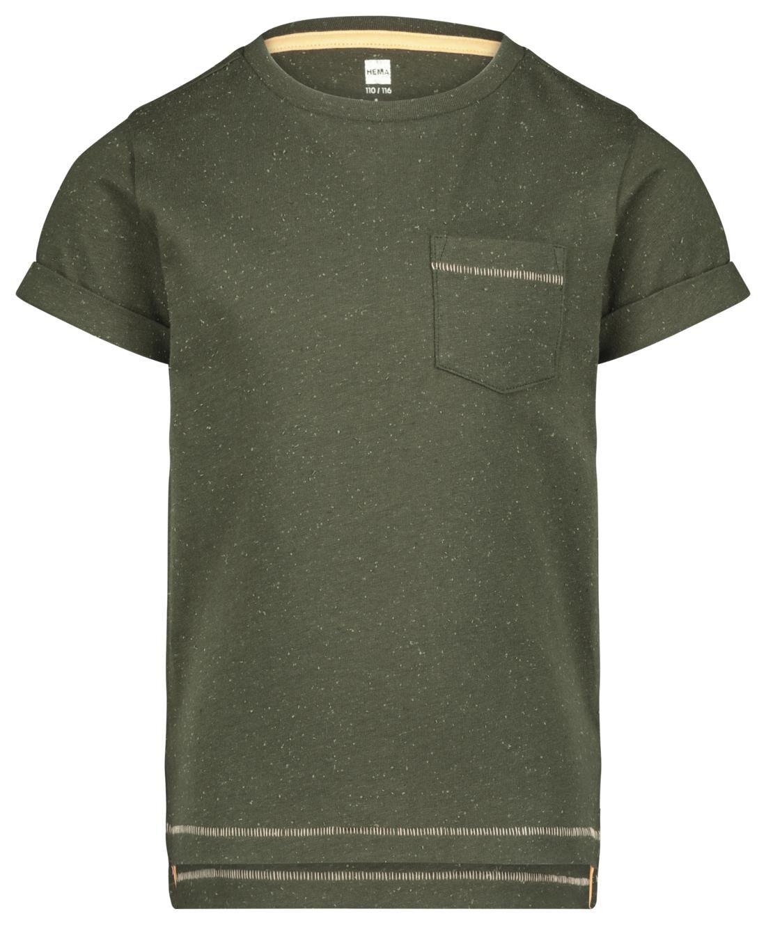 HEMA Kinder T-shirt Legergroen (legergroen)