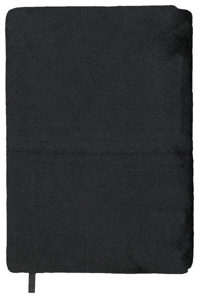 Rekbare boekenkaft fluweel zwart