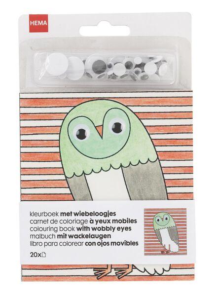 kleurboek met wiebeloogjes - 15990302 - HEMA