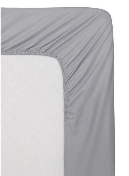 hoeslaken - zacht katoen - 160 x 200 cm - lichtgrijs - 5140094 - HEMA