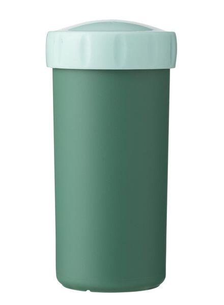 drinkbeker met deksel 300 ml groen - 80630568 - HEMA