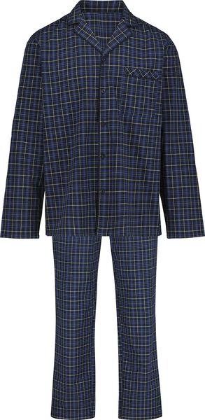 herenpyjama poplin donkerblauw - 1000018718 - HEMA