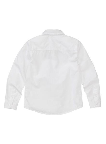 kinderoverhemd wit wit - 1000011048 - HEMA