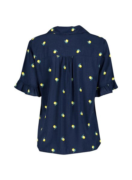 damesblouse donkerblauw donkerblauw - 1000013612 - HEMA