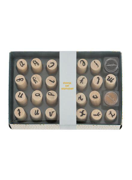 stempelset alfabet - 14855501 - HEMA
