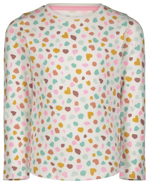 kinderpyjama confetti gebroken wit 110/116 - 23030654 - HEMA