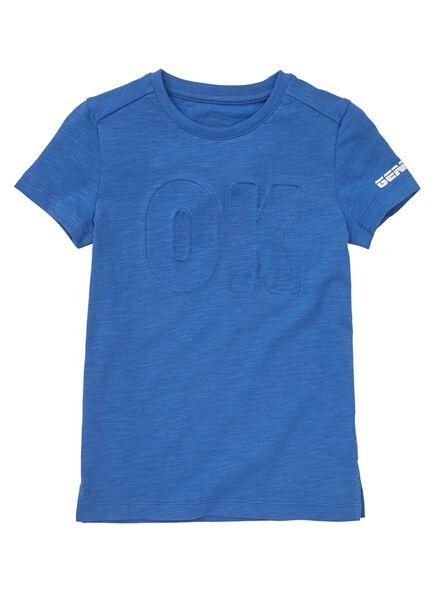 kinder t-shirt middenblauw middenblauw - 1000008660 - HEMA