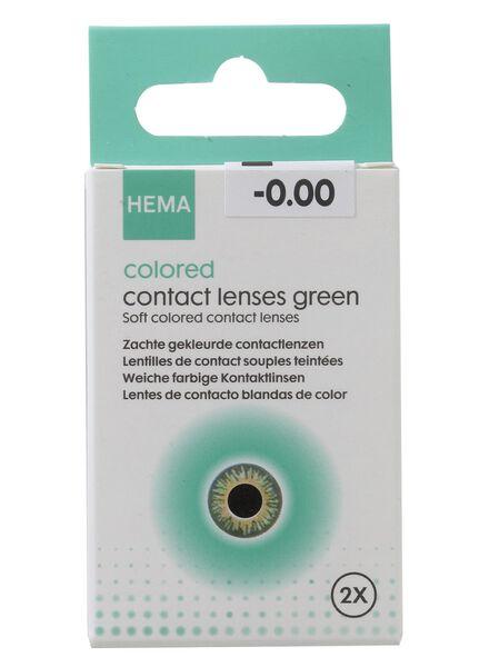 gekleurde contactlenzen - groen - 11973019 - HEMA