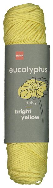 brei en haakgaren eucalyptus 50gr/83m geel geel eucalyptus - 1400207 - HEMA