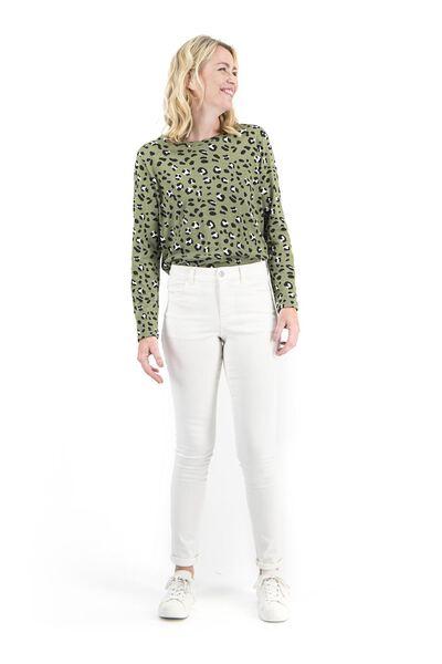 dames jeans - skinny fit gebroken wit 46 - 36307544 - HEMA