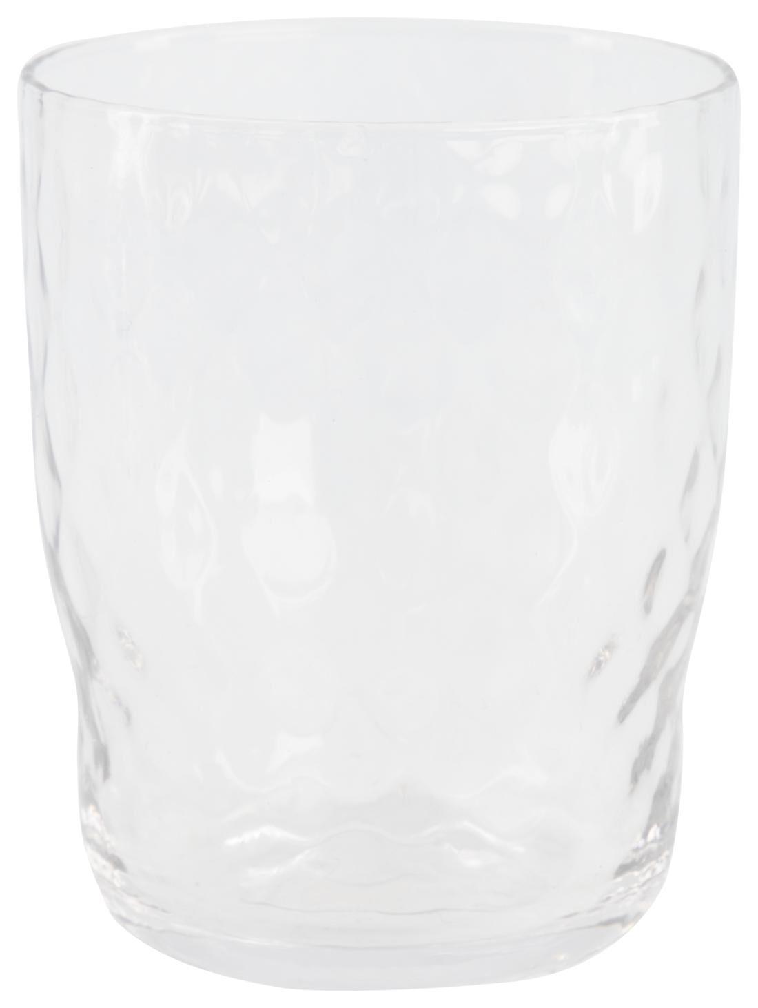 HEMA Waterglas Bergen Facet Reliëf 360ml