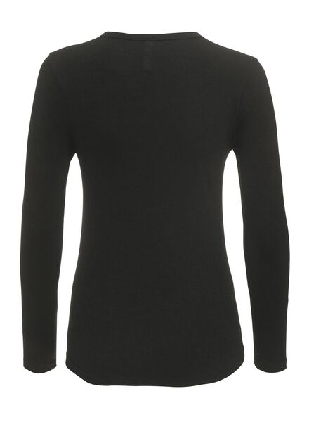 dames thermo t-shirt zwart zwart - 1000002186 - HEMA