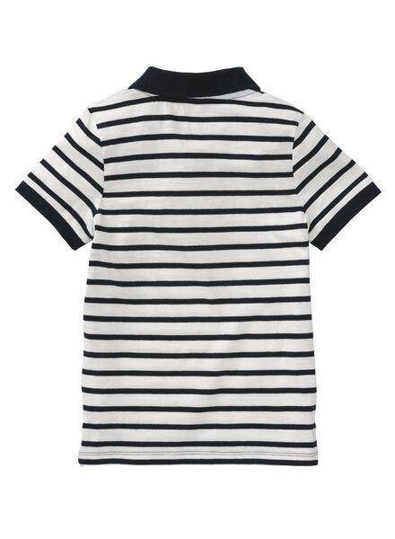 kinderpolo wit/zwart wit/zwart - 1000007396 - HEMA
