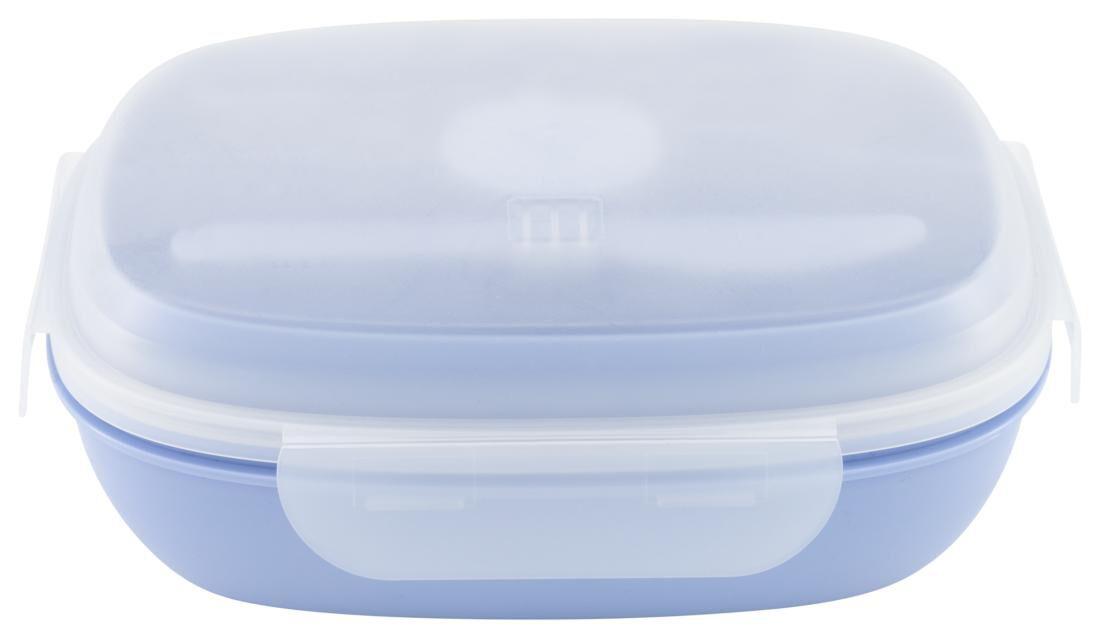 HEMA Saladebox Met Koelelement Blauw (aqua)