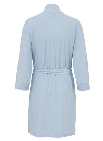 dames badjas badstof lichtblauw lichtblauw - 1000013146 - HEMA