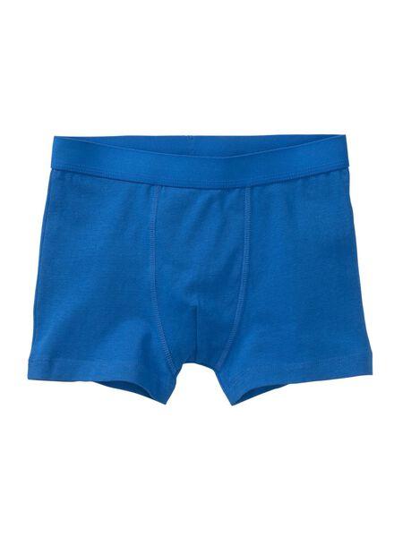 3-pak kinderboxers middenblauw middenblauw - 1000012901 - HEMA